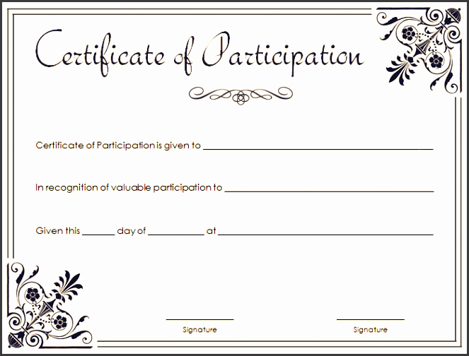Participation Award Certificate Template Awesome 8 Certificate Appreciation Draft Sampletemplatess
