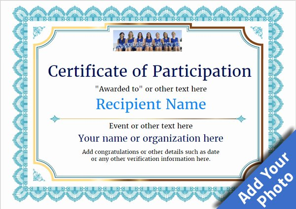 Participation Award Certificate Template Beautiful Participation Certificate Templates Free Printable Add