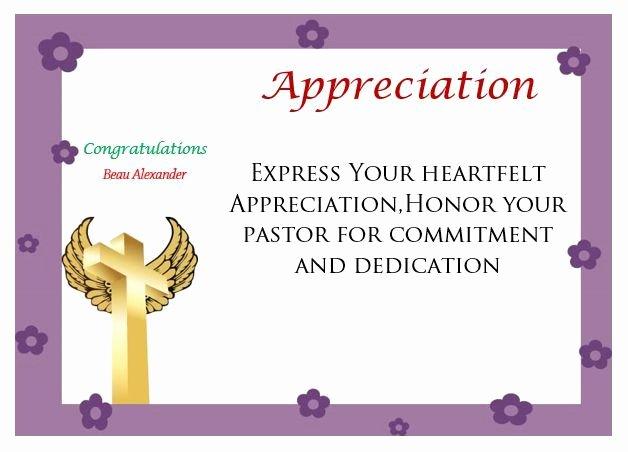 Pastor Appreciation Certificate Template Free Beautiful Printable Pastor Appreciation Certificate