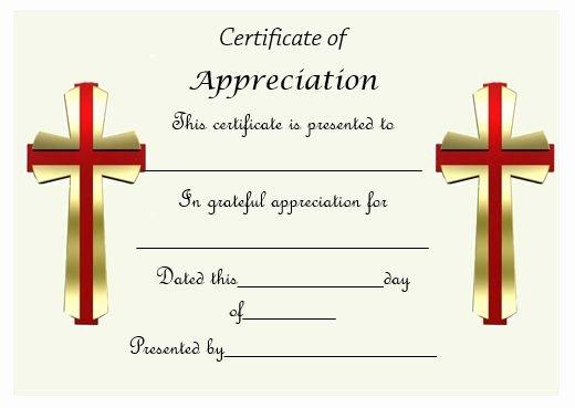 Pastor Appreciation Certificate Template Free Best Of Certificate Templates 18 Appreciation Certificates