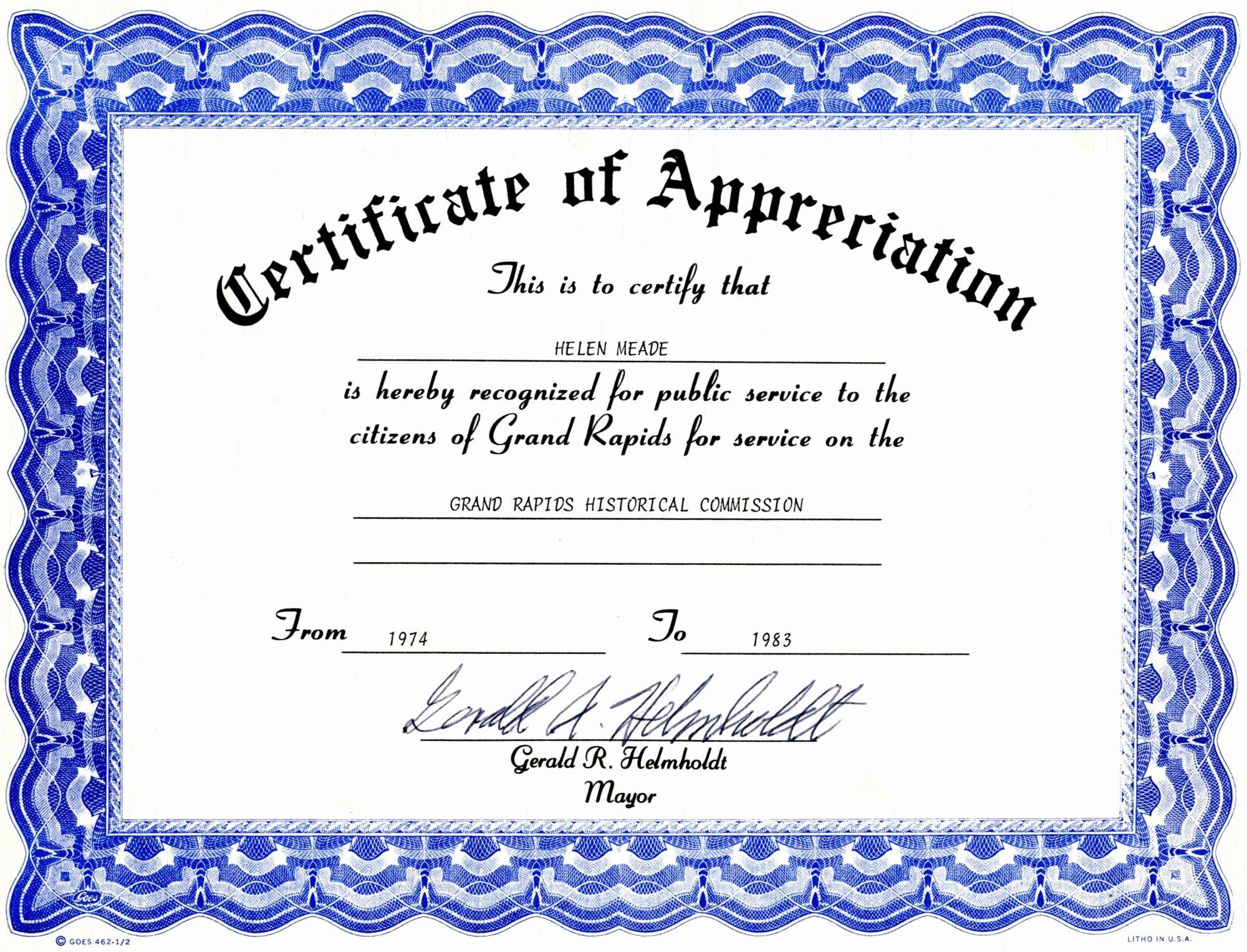 Pastor Appreciation Certificate Template Free Best Of Pastor Appreciaiton Program