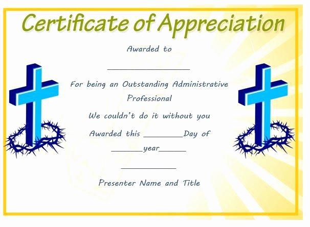 Pastor Appreciation Certificate Template Free Elegant Free Pastor Appreciation Certificate