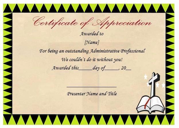 Pastor Appreciation Certificate Template Free Fresh Pastor Certificate Appreciation