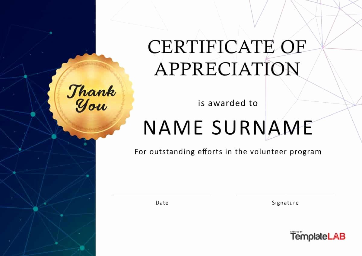 Pastor Appreciation Certificate Template Free Lovely 30 Free Certificate Of Appreciation Templates and Letters