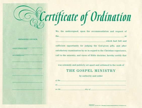 Pastor ordination Certificate Template Elegant Templates and Products On Pinterest