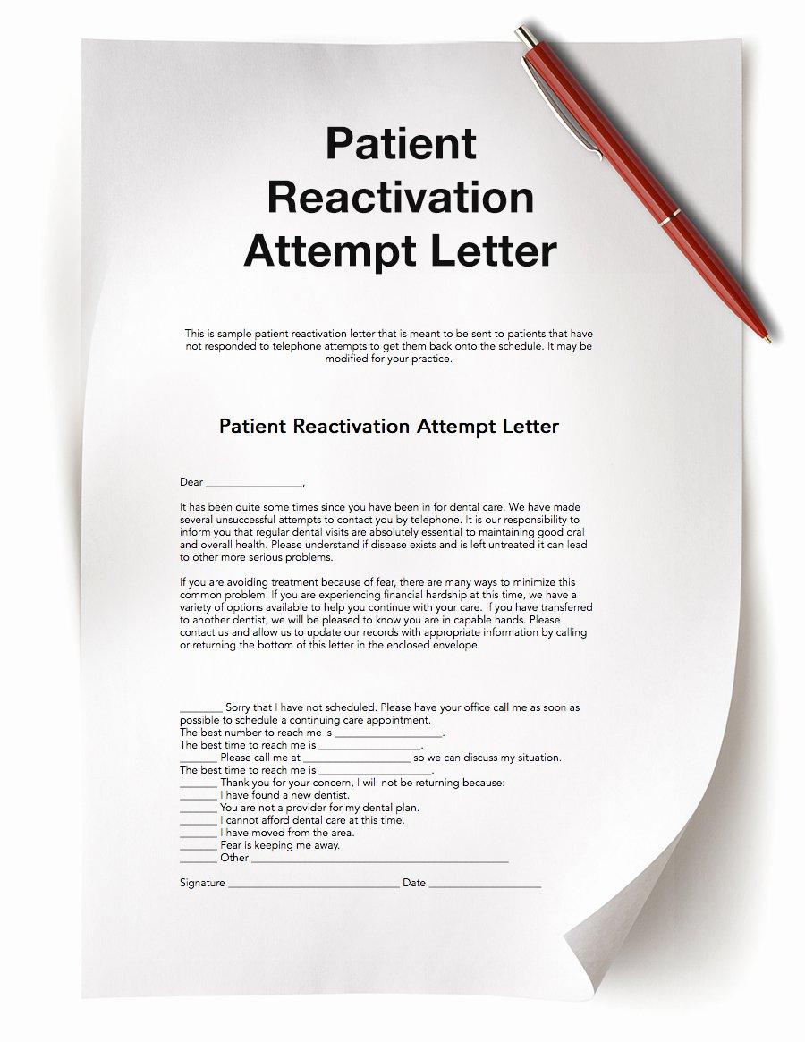Patient Dismissal Letter Dental Luxury Dental Practice Resources Free Dental Resources