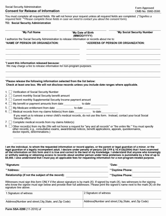 Patient Record Release form Inspirational 40 Medical Records Release form Release Of Information
