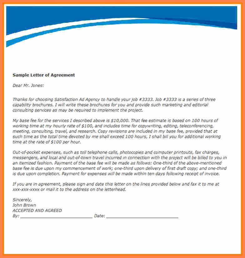 Payment Agreement Between Two Parties Fresh 7 Agreement Letter Template Between Two Parties