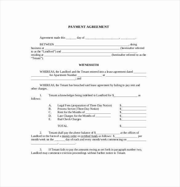 Payment Agreement Between Two Parties Unique 22 Payment Agreement Templates Word Pdf Google Docs