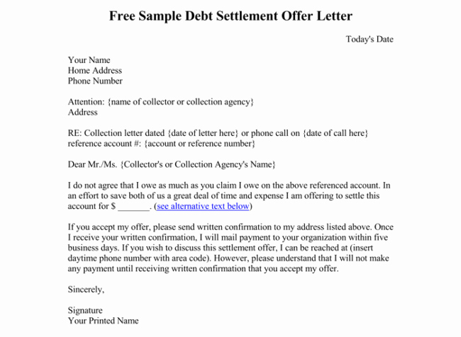 Payment Settlement Letter Awesome Debt Letter Template 10 Samples for Word Pdf