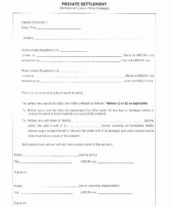 Payment Settlement Letter Awesome Payment Settlement Agreement Detail Car Accident