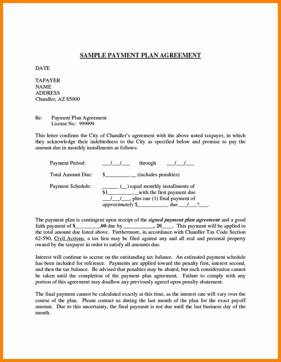 Payment Settlement Letter format Luxury 5 Simple Payment Plan Agreement Template