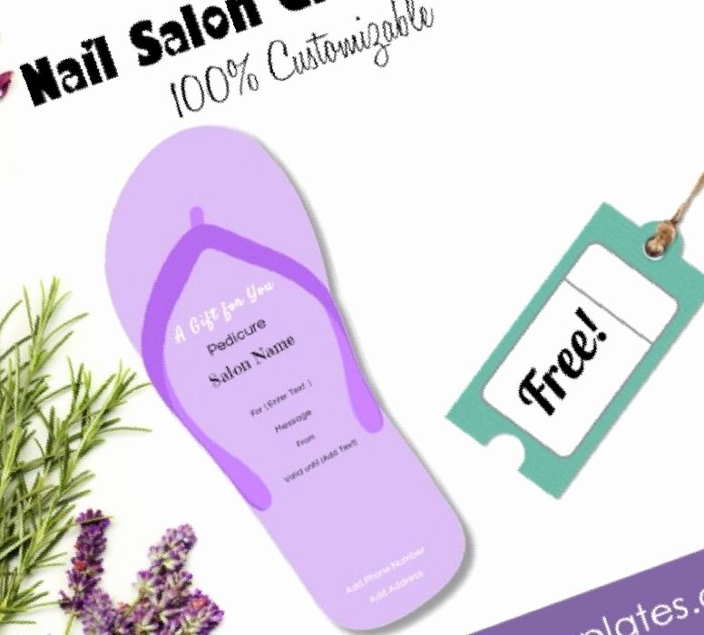 Pedicure Gift Certificate Template Lovely 30 Nail Gift Certificate Design Stylepics