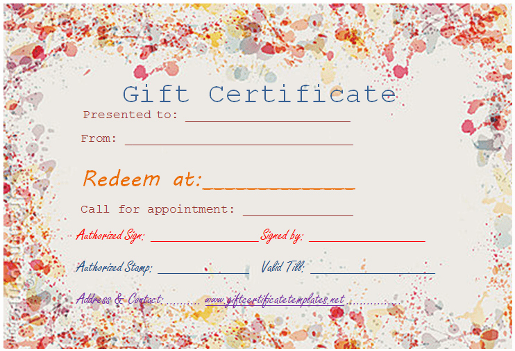 Pedicure Gift Certificate Template Luxury Colorful Border T Certificate Template