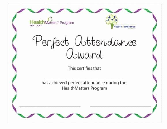 Perfect attendance Award Certificate Best Of 40 Printable Perfect attendance Award Templates & Ideas