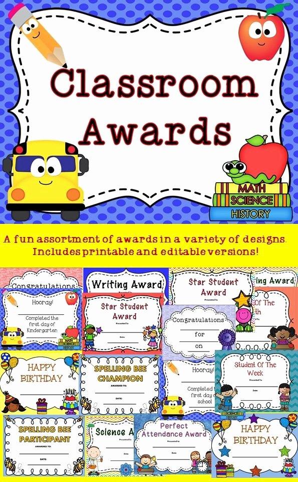 Perfect attendance Award Speech Inspirational Classroom Award Certificates