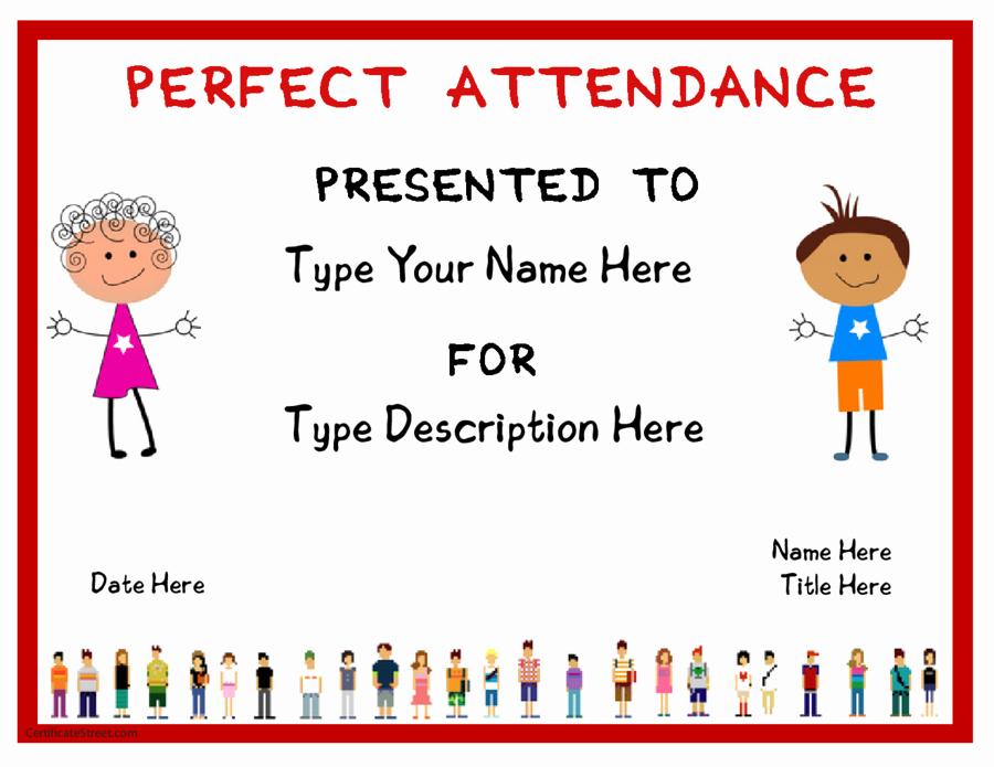Perfect attendance Award Template Beautiful 2019 Certificate Of attendance Fillable Printable Pdf