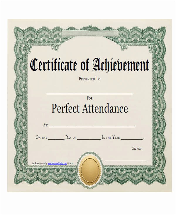 Perfect attendance Award Wording Awesome 21 Award Certificates Samples & Templates Word Psd Ai