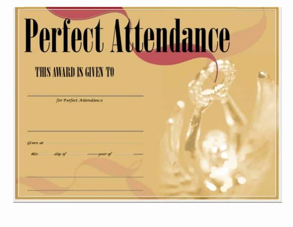 Perfect attendance Certificate for Employees Best Of 40 Printable Perfect attendance Award Templates & Ideas
