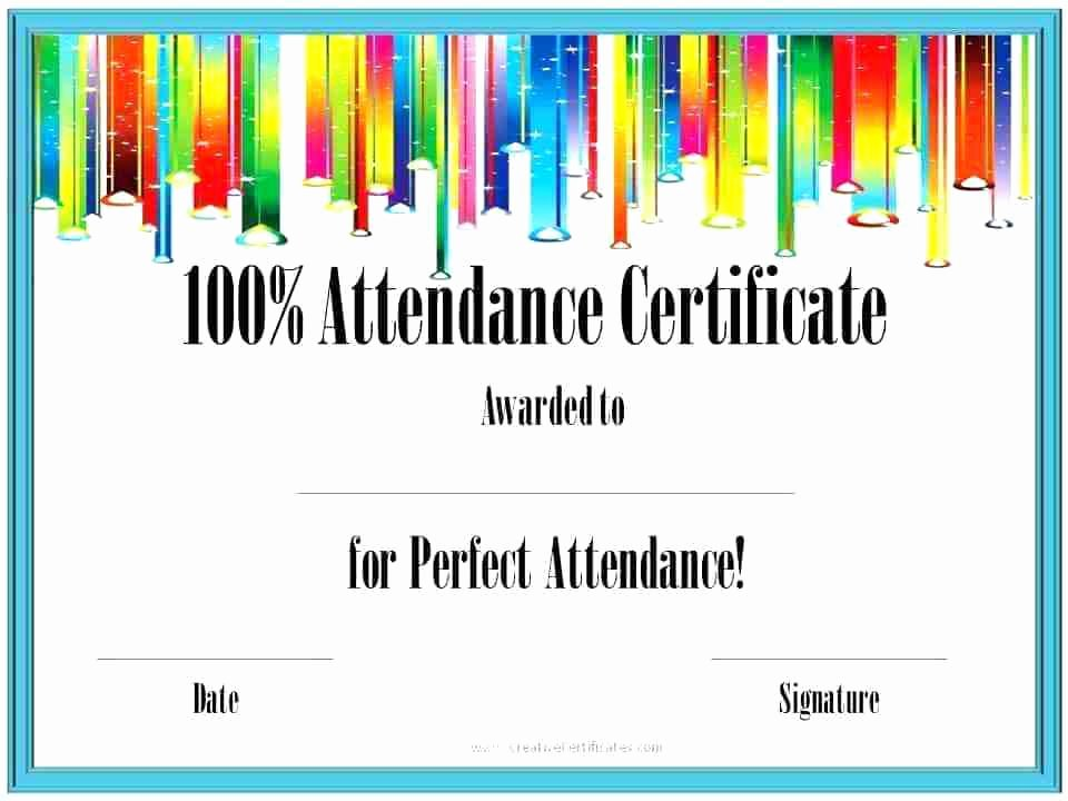 Perfect attendance Certificate for Employees Best Of attendance Certificate format for Employees – Ethercard