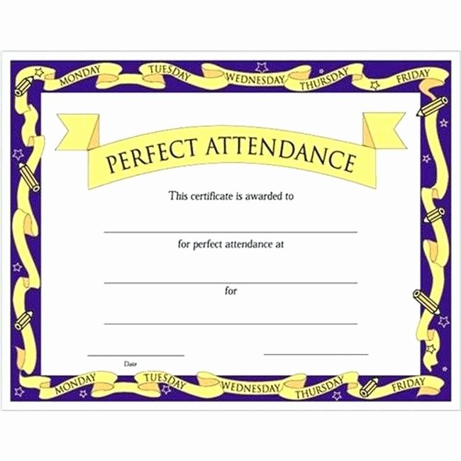 Perfect attendance Certificate for Employees Fresh attendance Certificate format for Employees – Ethercard