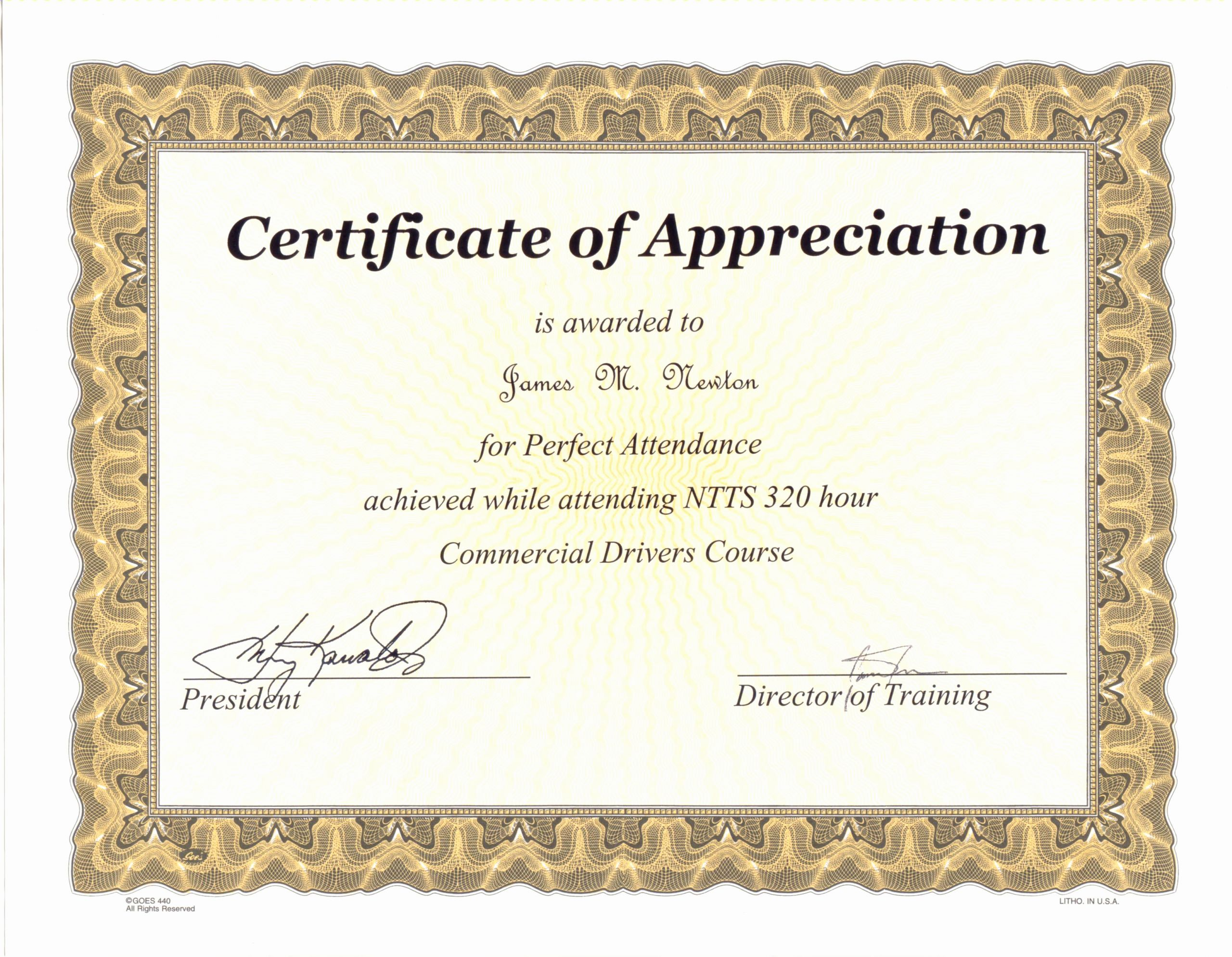 Perfect attendance Certificate for Employees Luxury Perfect attendance Quotes Quotesgram