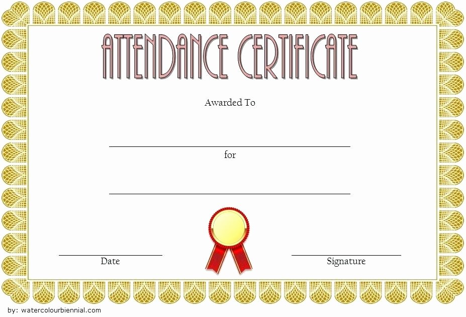 Perfect attendance Certificate for Employees Unique attendance Certificate format for Employees – Ethercard