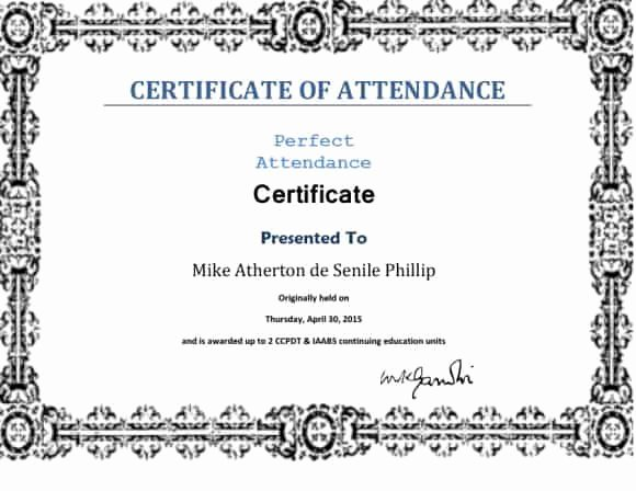 Perfect attendance Certificate Free Download Luxury 40 Printable Perfect attendance Award Templates & Ideas