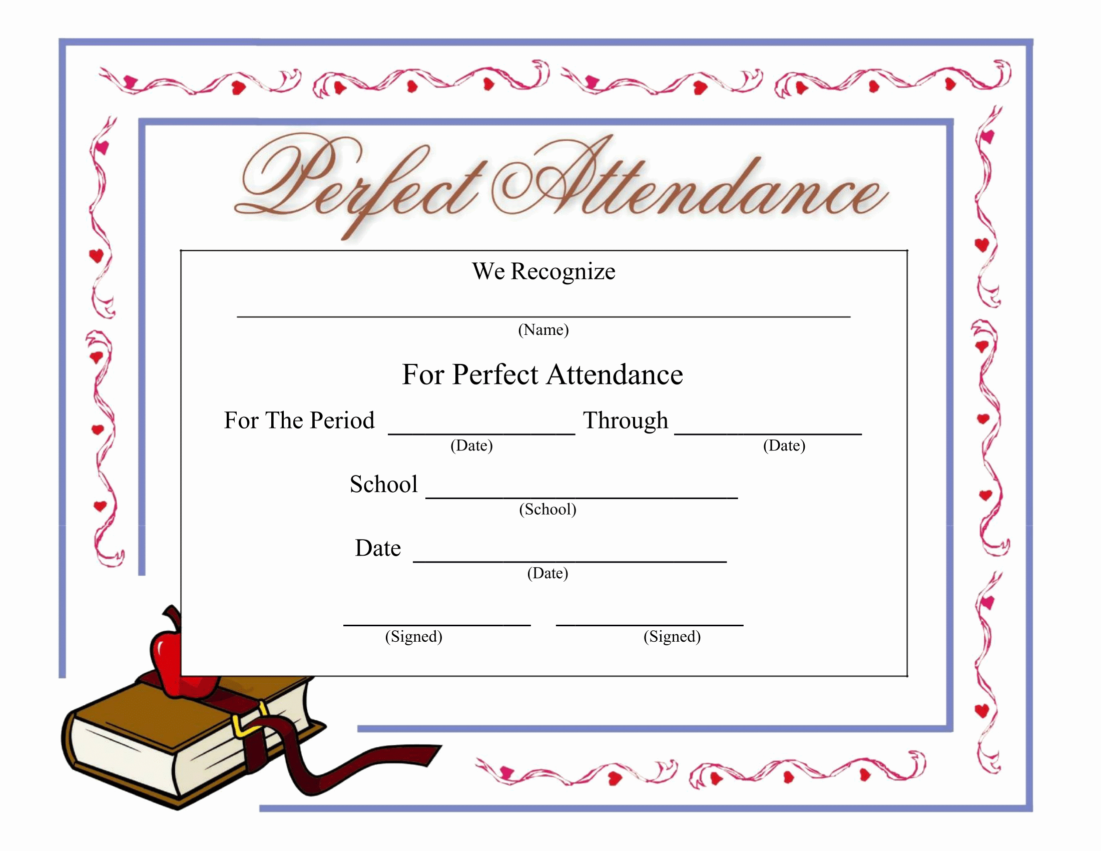 Perfect attendance Certificate Free Download Luxury Certificates Download Free Business Letter Templates