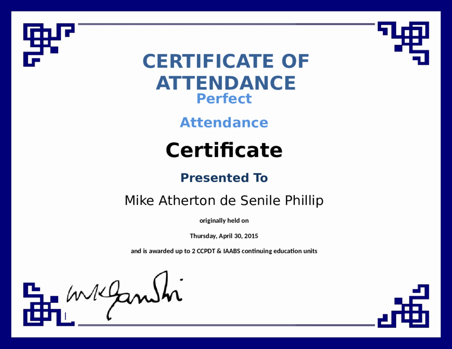 Perfect attendance Certificate Free Template Inspirational Blank Certificate Of attendance Perfect