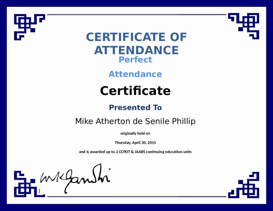 Perfect attendance Certificate Pdf Inspirational Blank Certificate Of attendance Perfect