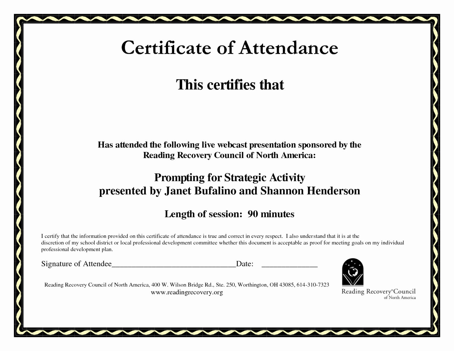 Perfect attendance Certificate Printable Luxury Certificate Perfect attendance Template