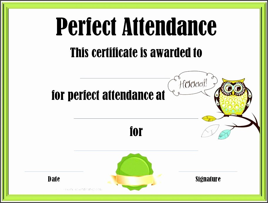 Perfect attendance Certificate Printable Unique 11 Certificate Pletion Template Printable