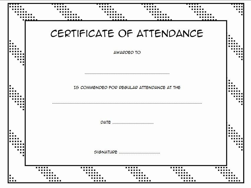 Perfect attendance Certificate Template Beautiful 8 Printable Perfect attendance Certificate Template Designs