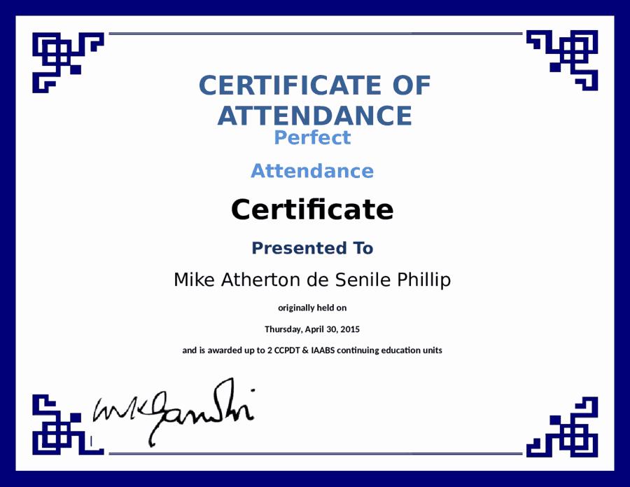 Perfect attendance Certificate Template Best Of 5 Certificate Of attendance Templates Word Excel Templates