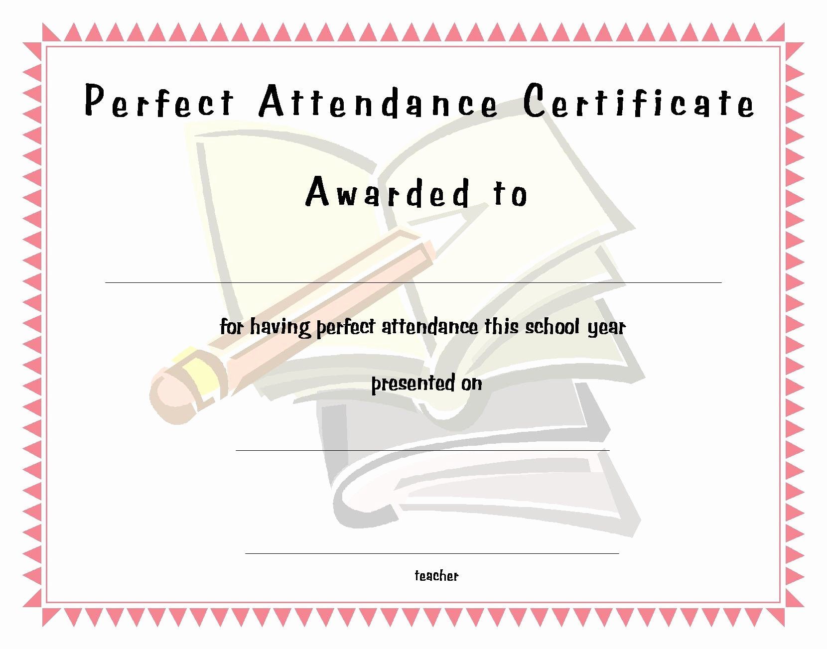 Perfect attendance Certificate Template Free Best Of Perfect attendance Funny Quotes Quotesgram