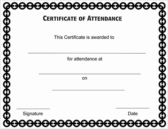Perfect attendance Certificate Template Word Inspirational attendance Certificate Templates