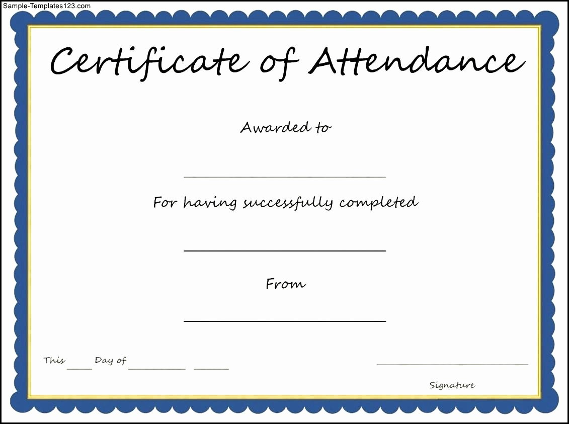 Perfect attendance Certificate Template Word New 12 Of Certificate attendance Template Word
