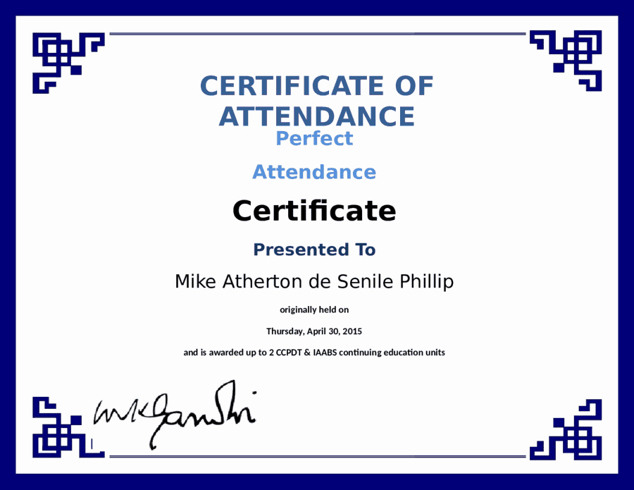 Perfect attendance Certificate Template Word Unique 5 Certificate Of attendance Templates Word Excel Templates
