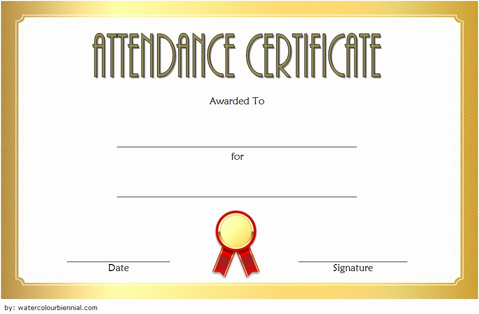 Perfect attendance Certificate Word Fresh Perfect attendance Certificate Template Free