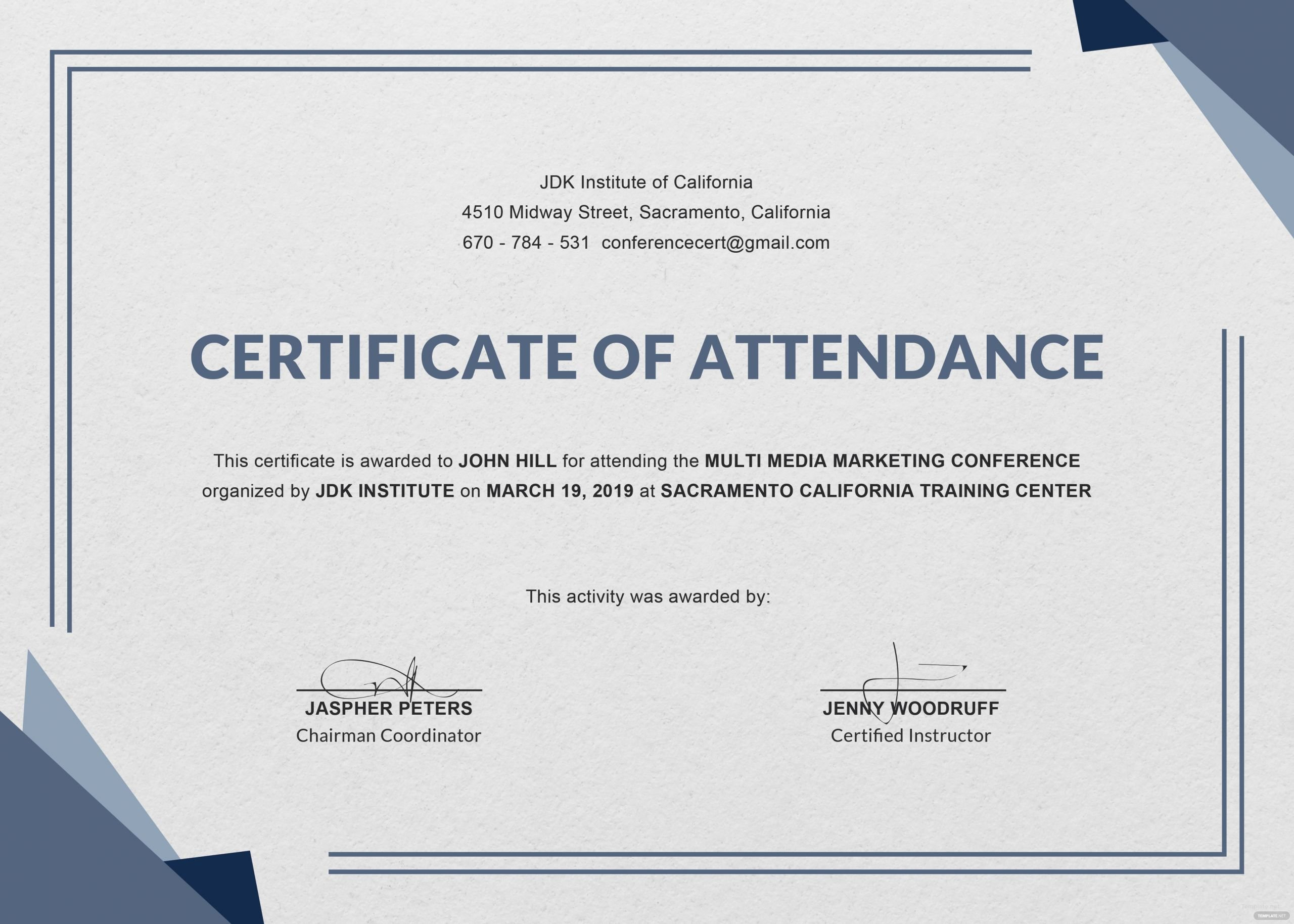 Perfect attendance Certificate Word Lovely Certificate Templates Ms Word Perfect attendance