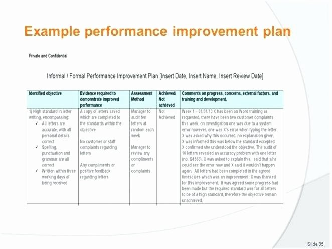 Performance Improvement Plan Template Excel Awesome Performance Improvement Plan Template