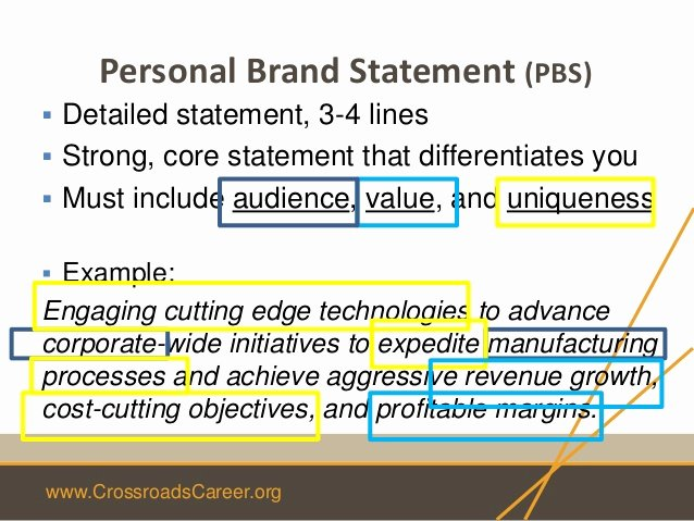 Personal Brand Statement Examples Best Of Week 2 4 Week Leadership Steps 4 & Marketing Materials