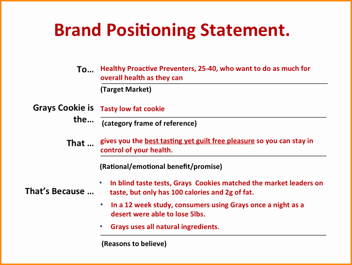 Personal Brand Statement Examples Luxury Image Result for Positioning Statement Marketing