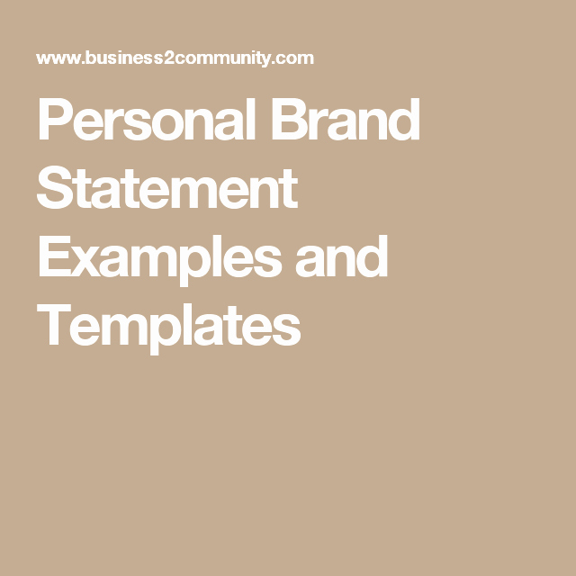 Personal Brand Statement Examples New Personal Brand Statement Examples and Templates