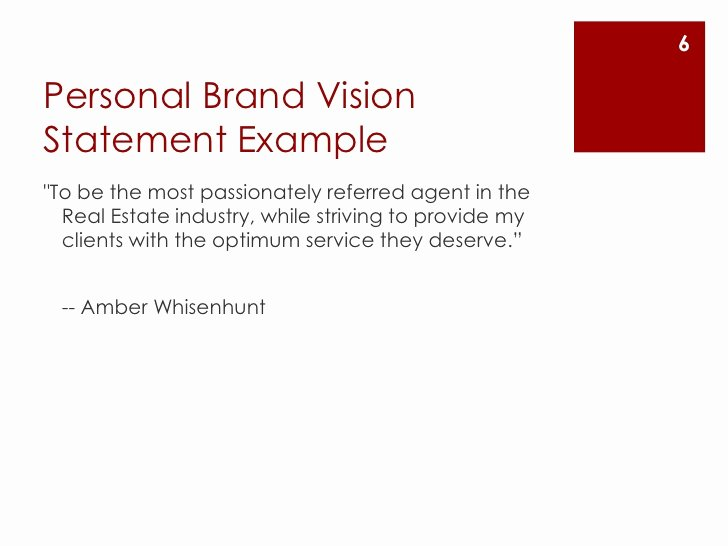 Personal Brand Statement Sample New Create A Personal Brand Vision Statement