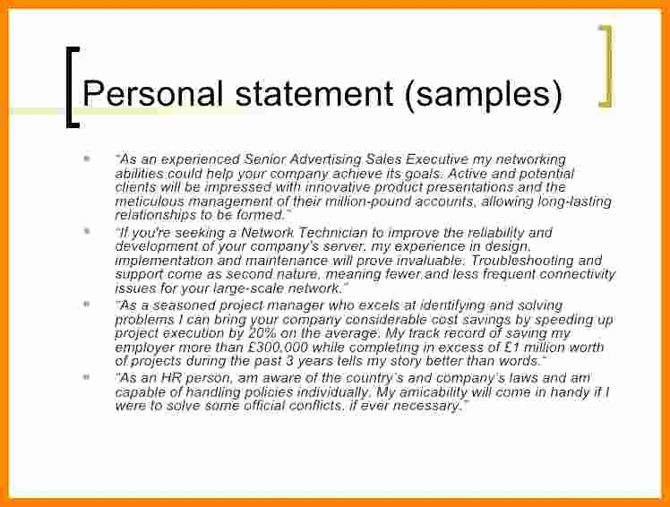 Personal Brand Statements Examples Best Of 5 Cv Personal Statement Examples Career Change