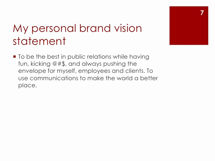 Personal Brand Statements Examples Unique Create A Personal Brand Vision Statement