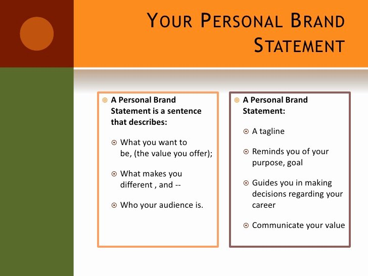 Personal Brand Statements Inspirational Setting Yourself Apart From the Crowd