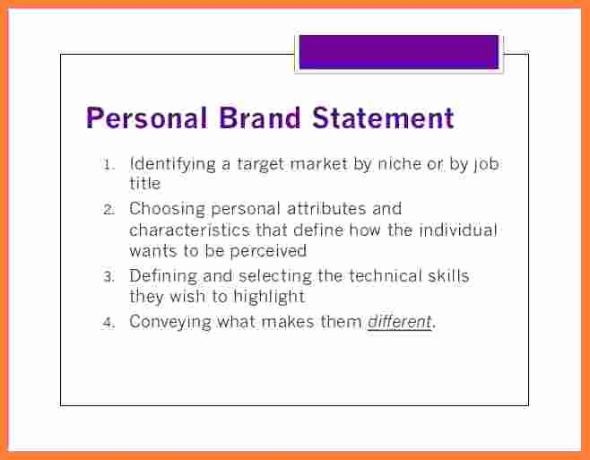 Personal Branding Statement Lovely 4 Personal Branding Statement